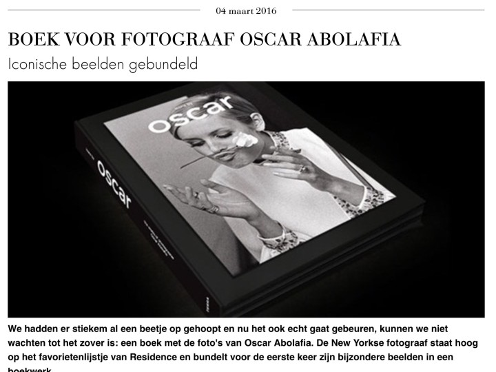 'icons by Oscar' in Residence magazine